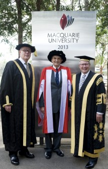 Vice-Chancellor Professor Bruce Dowton, Andrew Tink and Chancellor Michael Egan