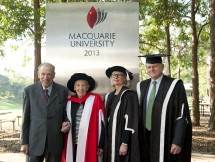Emeritus Professor Bruce Mansfield, Professor Emerita Jill Roe, Professor Gail Whiteford and Professor Jim Piper. Photo: Effy Alexakis.