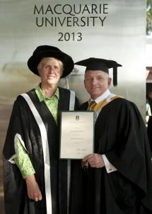 Deputy Vice-Chancellor (Students and Registrar), Deidre Anderson, with Jim Bond