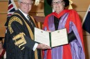 Chancellor Michael Egan with the Honourable Justice Patricia Anne Bergin SC. Photo: Effy Alexakis, Photowrite.
