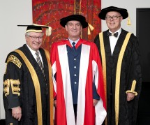 Chancellor Michael Egan, Andrew Scipione, Vice-Chancellor, Professor S Bruce Dowton