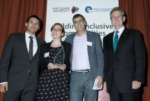 Jim Samios Memorial Award winners One Parramatta with The Honourable Barry O'Farrell MP, Premier of New South Wales