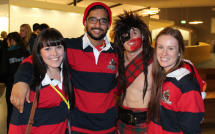 (L-R) Rachelle Alchin, Ahad Malik, Nick McShane (MacWarrior), and Mieka Hynec. Credit: Campus Life Marketing