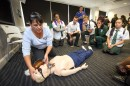 Marsden High School students experience patient simulation activities at Macquarie University Hospital