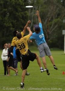 Student Tom Tulett in National Frisbee Championships. Photo: Anson Chun