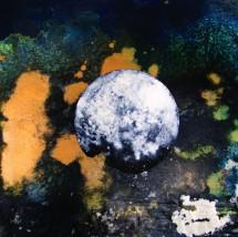 Broken Moon, acrylic, by Rhonda Dee. Photo by Rhonda Dee, courtesy of the artist.