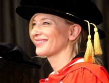 Cate Blanchett receives an honorary doctorate from Macquarie University. Photo: Graduation Photography