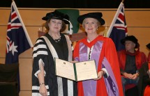 Deputy Chancellor Elizabeth Crouch with Emeritus Professor Gillian Triggs