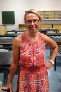 Graduate Sarah Mills in her new role at Tuggerah Lakes Secondary College.