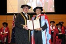 Vice-Chancellor Professor S Bruce Dowton presents The Chairman of the Australian Stock Exchange Rick Holliday-Smith BA(Hons) FAICD with the honorary doctorate.