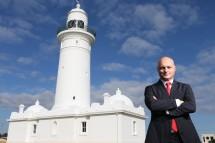 MGSM Dean Prof Alex Frino at Macquarie Lighthouse