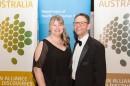 Suzy Byers, Victorian Cancer Agency with Professor Jeffrey Braithwaite