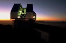 The WIYN telescope building at sunset. Credit: NOAO/AURA/NSF