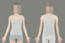 Image caption: Composite bodies showing the average fat and muscle mass chosen as the most attractive for women (left) and men (right). Image attribution: Dr Ian Stephen.