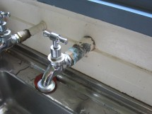 Researchers have found lead and copper contamination at the domestic consumer's kitchen tap.