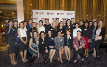 The Hon Kristina Keneally, Director of Gender Inclusion and Adjunct Professor at MGSM with several of the WiMBA recipients. Credit: Paul Wright.