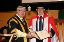 Chancellor, The Hon Michael Egan AO with Mr Richard Ackland AM