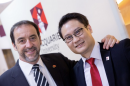Professor Gilles Guillemin (L) and Dr Edwin Lim (R). Photo credit: Carmen Lee, Macquarie University