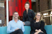 (L-R) Dr Neil Harrison, Dr Kira Westaway, and Corinne Sullivan