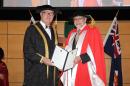 The Vice-Chancellor Professor S Bruce Dowton and Hon Justice Brian Preston SC