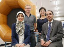 Chief investigators from Macquarie L-R: Dr Fatemeh Salehi, Professor Darren Bagnall, Dr Ming Li, Dr Rouzbeh Abbassi