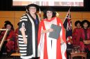 Wendy Harmer receiving her Honorary Doctorate