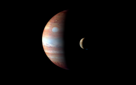 Moon orbiting Jupiter