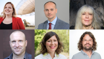 Macquarie's new Future Fellows. Top row (L-R): Dr Shari Breen, Associate Professor Antonio Di Ieva, Dr Hollis Taylor. Bottom row (L-R): Dr Tom Murray, Professor Liz Pellicano, Dr Daniel Burgarth.