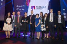 Macquarie University representatives with Director of the Export Council of Australia, William Hutchinson.
