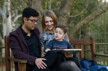 Macquarie University Senior Lecturer Mauricio Marrone and his family