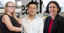 L to R: Dr Miriam Forbes, Assoc. Professor Bingyang Shi, Professor Viviana Wuthrich