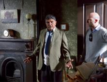 Tom E. Lewis as Douglas Grant, with director Tom Murray