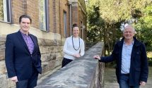 Pictured (L-R): Hunters Hill Mayor Mark Bennett, lead researcher and Associate Professor in the Macquarie School of Education Dr Penny Van Bergen, and Touched by Olivia director and co-founder John Perkins.