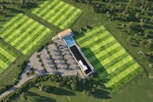 Artist's impression of the Sydney FC Centre of Excellence at Macquarie University Sports Fields