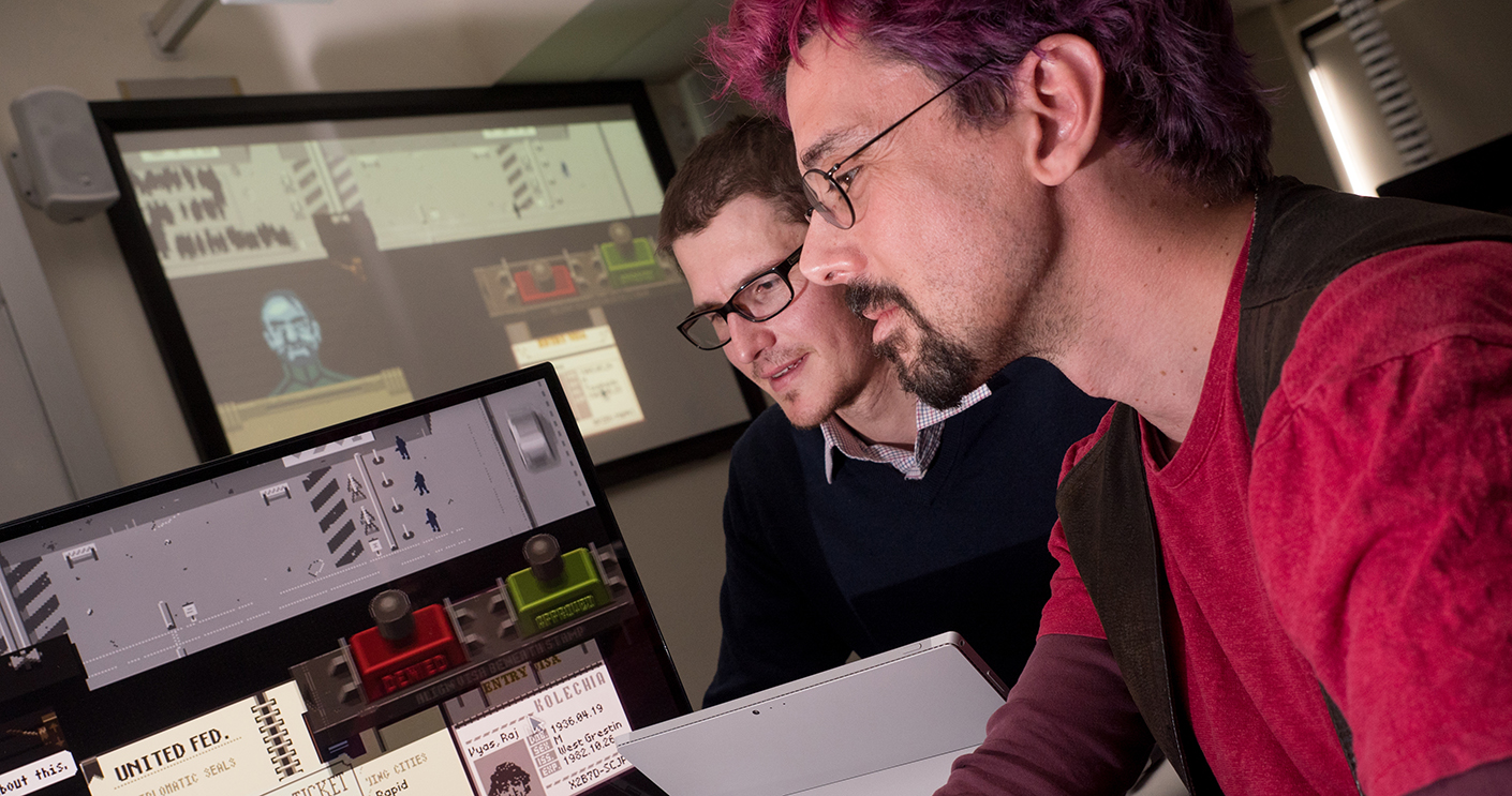 Dr Malcolm Ryan and Dr Paul Formosa, computer game research