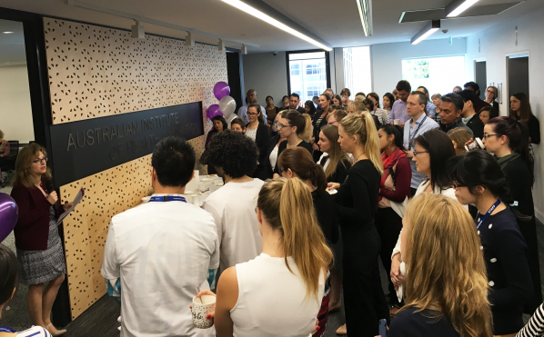The Australian Institute of Health Innovation's morning tea