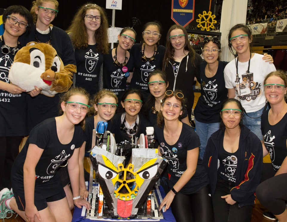 2017 FIRST Robotics competition at Olympic Park