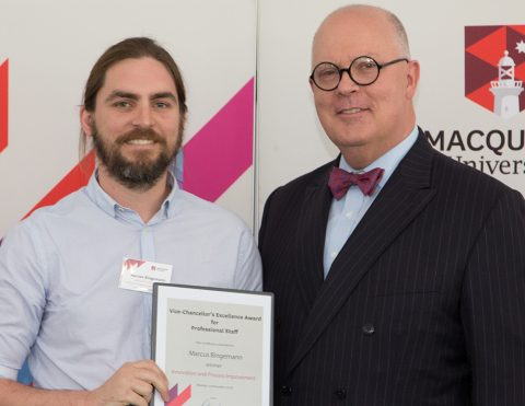 The Vice-Chancellor's Excellence Awards for Professional Staff, 2016