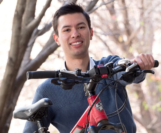 Kevin Newport from FBE who is riding across Nepal to raise money for local schools.