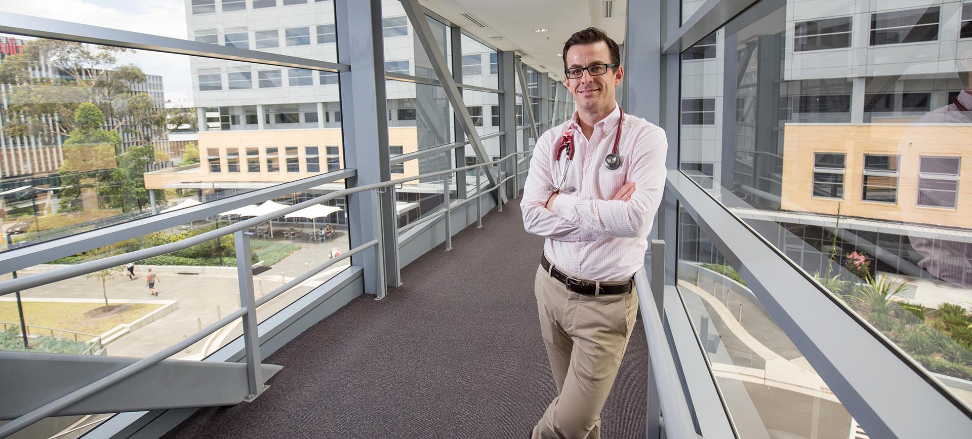 Dr Luke Morphett at Macquarie University Hospital