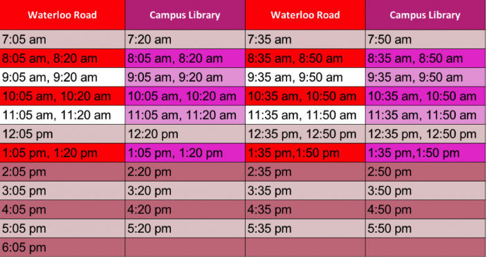 new-timetable